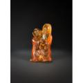 老琥珀雕人物携金蟾摆件-原矿天然琥珀-琥珀和合二仙琥珀摆件(sh94741897)_7788收藏__收藏热线