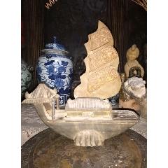 老挝高山石雕帆船摆件(sh94744419)_7788收藏__收藏热线
