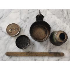 銅文房用品4件