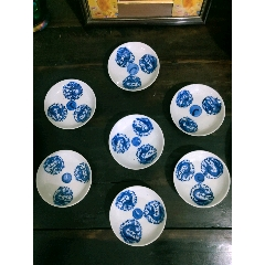 清代團龍碟子一套-¥0 元_青花瓷_7788網