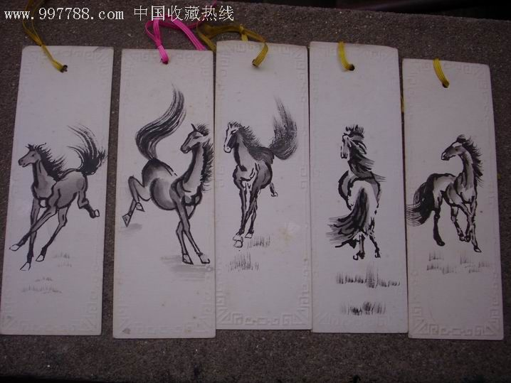 老手绘书签【稀少】5张合拍