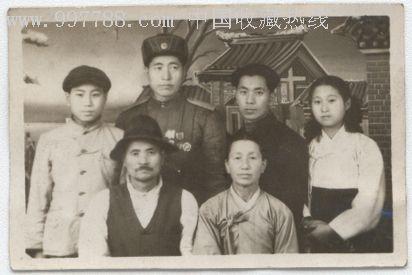 50年代朝鲜家庭照.-价格:10元-au782544-老照片-拍卖