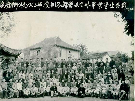 1963年安庆卫校毕业学生合影图片