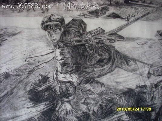 夜老虎(铅笔素描)