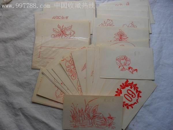 手绘各种花卉图案_点评【中国收藏热线】; 家具手绘单体速写;