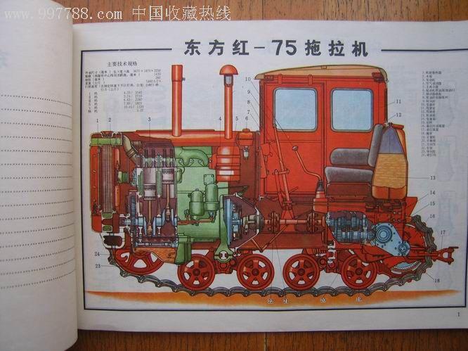東方紅拖拉機結構圖