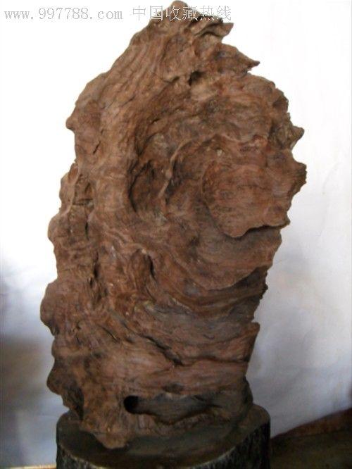千年水浸铁木头自然摆件(牡丹花)