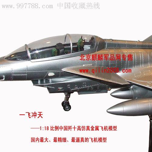 *事模型,一飞冲天,中国歼十飞机模型.1:24