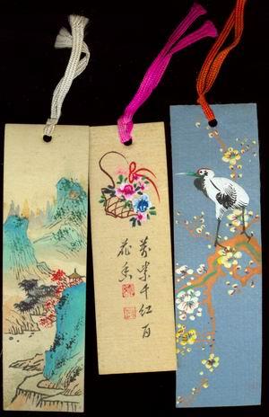 三张绢面手绘书签_价格元_第1张_中国收藏热线