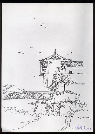风景园林钢笔画手绘