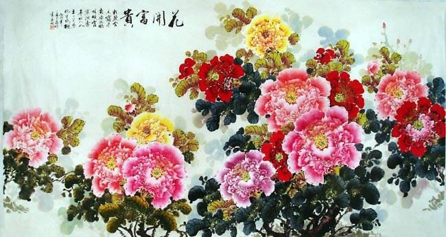 蒋伟花鸟国画-六尺精品牡丹
