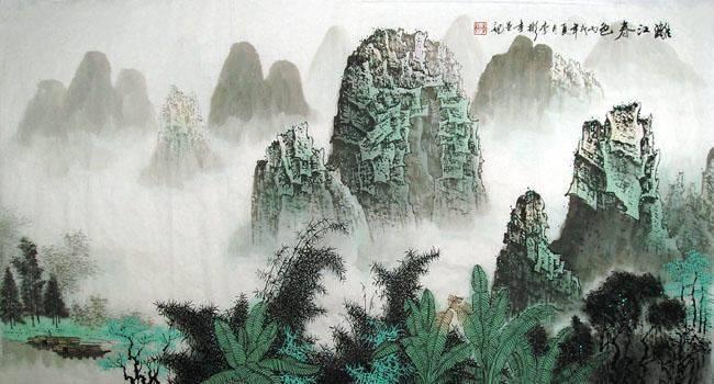 四尺桂林山水画