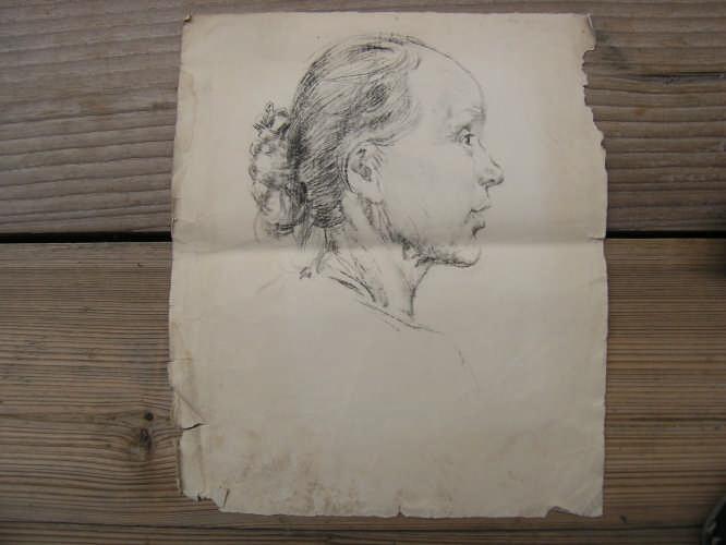 素描女人头像-价格:120元-se1635540-素描/速写-零售