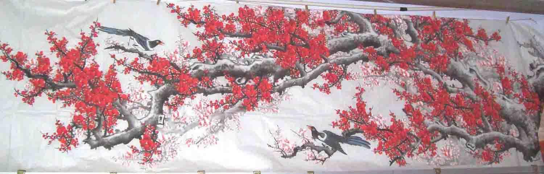 国画梅花枝干画法_国画蜻蜓的画法