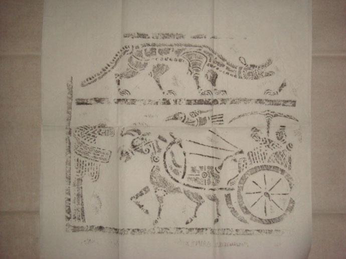 汉代建筑手绘线稿