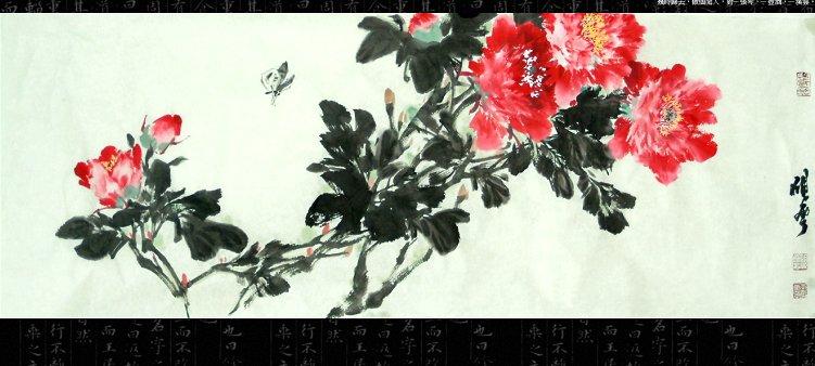 中国画牡丹图