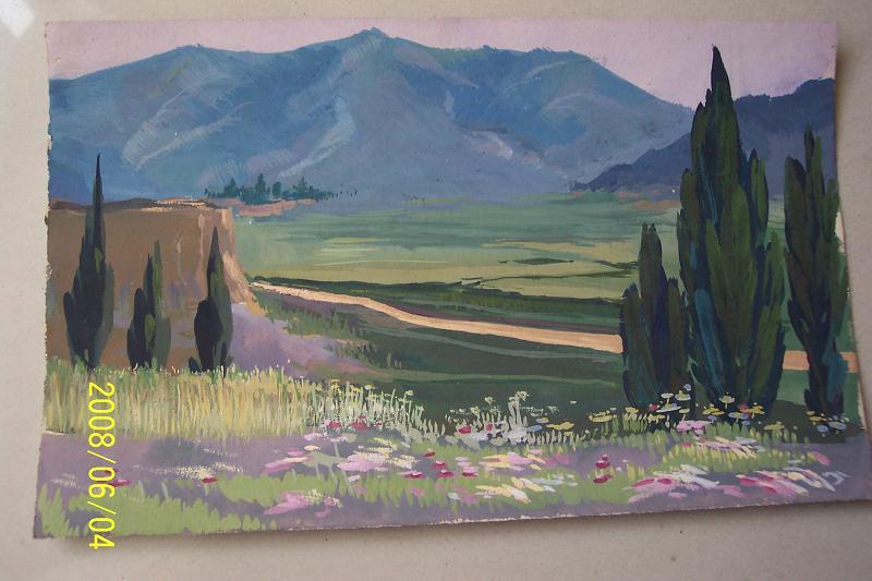 五六十年代水粉画水彩画原稿手绘稿包老