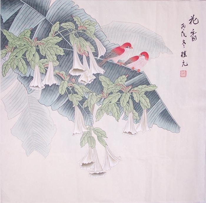 桂元工笔人物画