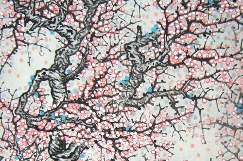 桃花水墨画法步骤