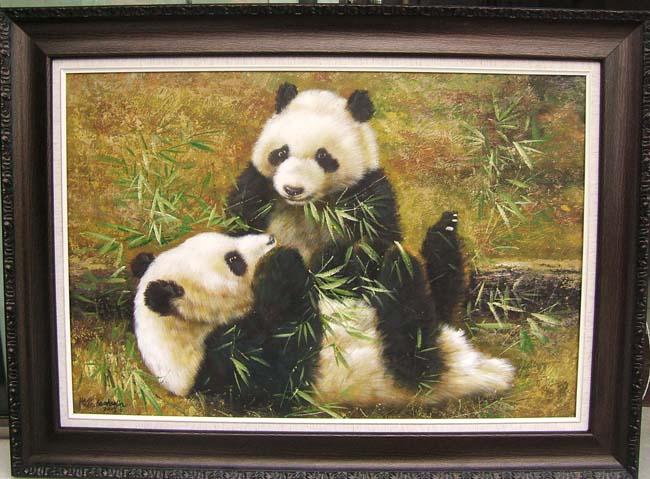 画家包浩霖油画精品(熊猫)
