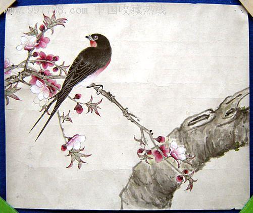 儿童画桃花的画法