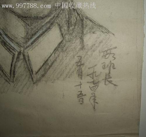 70年代手绘人物素描画稿(人物班长)