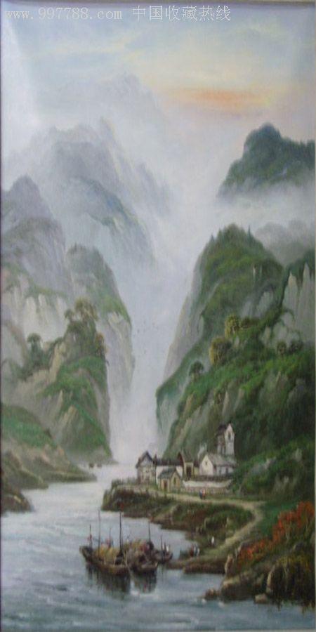 中国山水风景油画