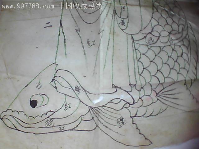 清代手绘戏剧人物画2张