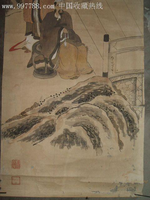 古代书画----清代日本手绘人物画镜心(纸本)一幅
