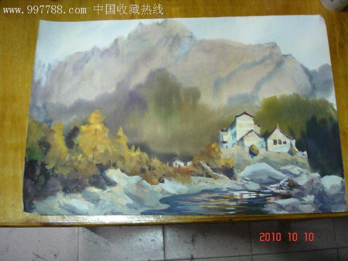 田园小景水粉画_价格元_第1张_7788收藏__中国收藏热线