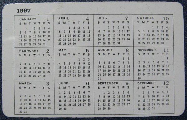 1997年日历片-价格:1.5元-se1696750-年历卡/片-零售图片