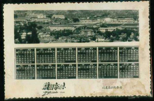 1964年福建农学院全景照片型年历,1960-1966年,年历卡图片
