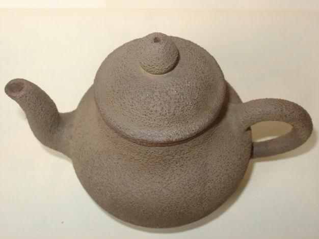 很老的粗��_福记款紫砂粗泥制老茶壶