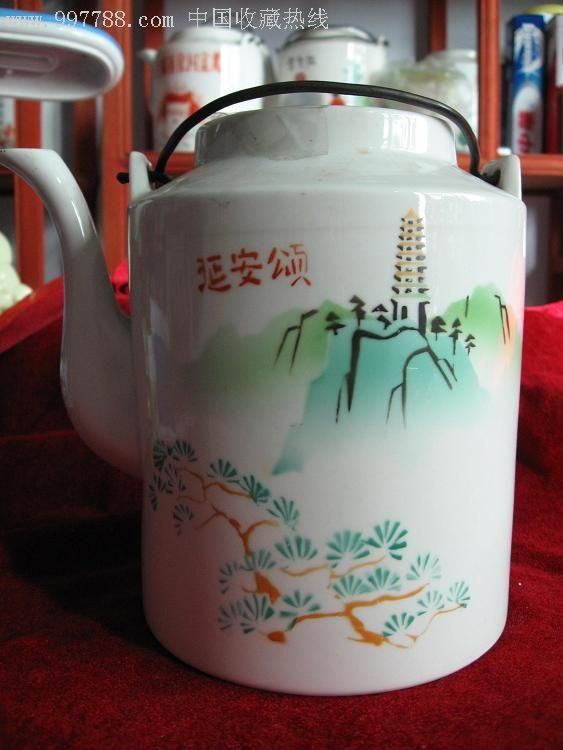 红字延安颂壶2-价格:220元-se3615216-彩绘瓷/彩瓷