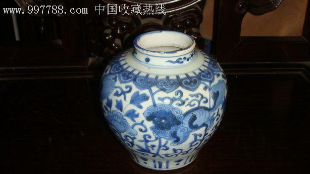 青花狮子穿花纹罐-价格:8000元-se4453848-青花瓷