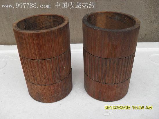 其他木质,,清朝,,浮雕,,,,, 简介: 清代老竹桶,,,可当作笔筒 备注