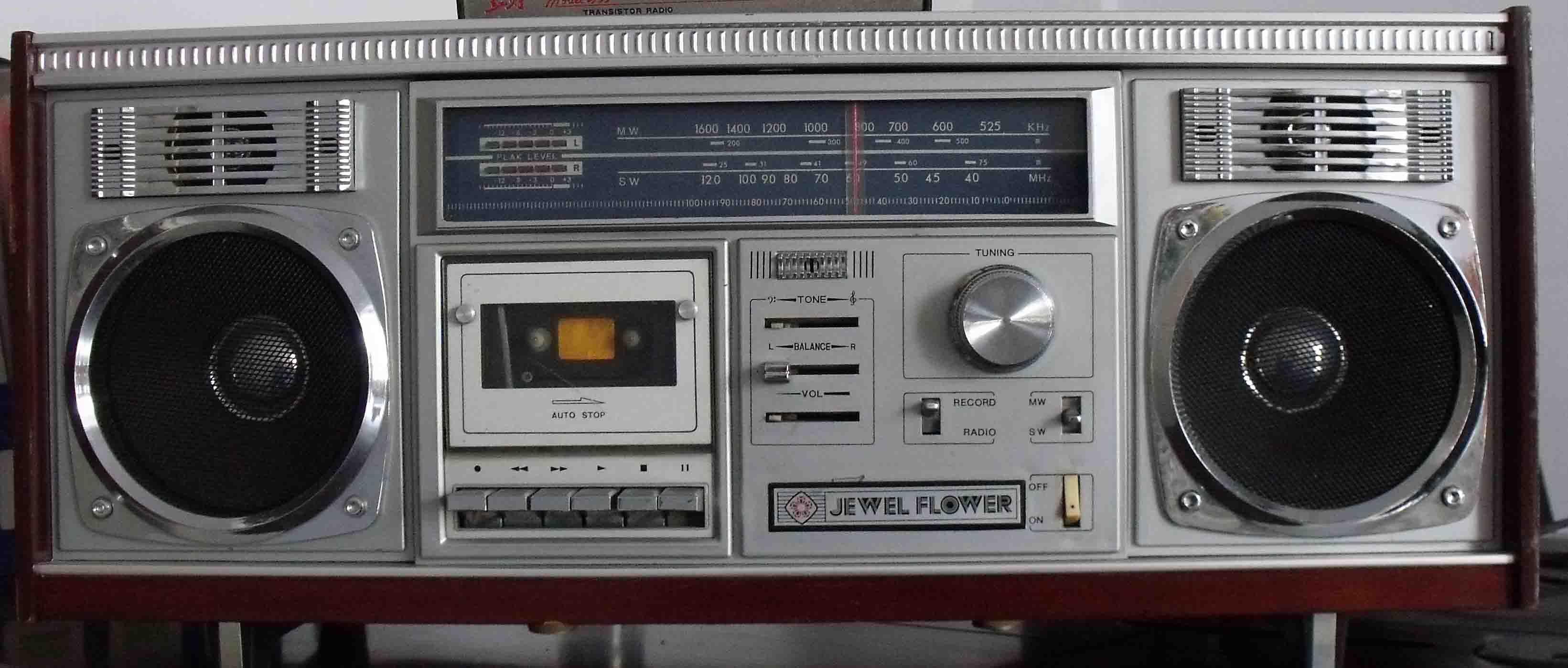 宝石花台式立体声收录机