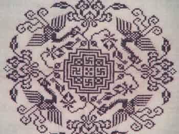 苗族十字刺绣-湘西传统绣品 苗绣十字绣品图片