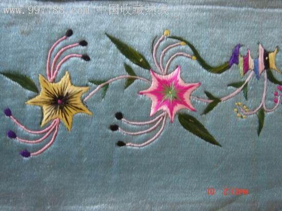 枕头绣花图片