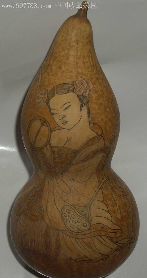 葫芦(手绘人物图案)-价格:180元-se6280783-葫芦画