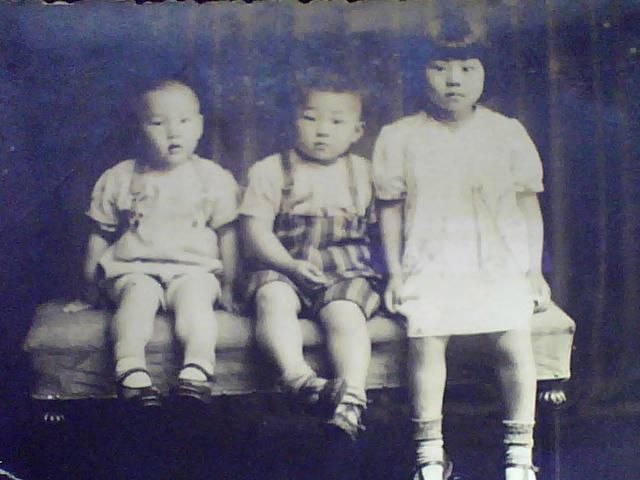 民国照片【三个天真,可爱的小孩】