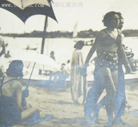 """满洲国时期原版照片""""哈尔滨太阳岛公园之沙滩"""",老照片_第2张_七七八八"""