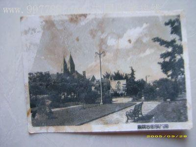 老照片,青岛景,6*8.2厘米