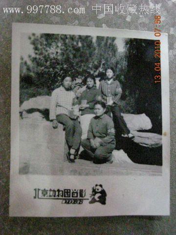四个女红*兵北京动物园留影