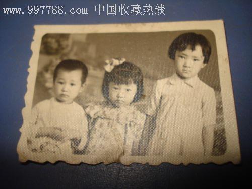 姐弟三人,老照片【长春纸品收藏】