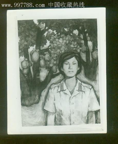 黑白人物绘画照片