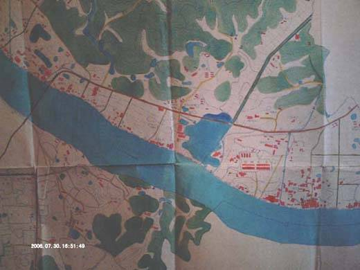 50年代赣州市区老地图(对开彩色)