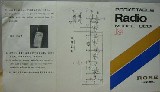 玫瑰牌s201型两波段袖珍收音机使用说明(68.1)