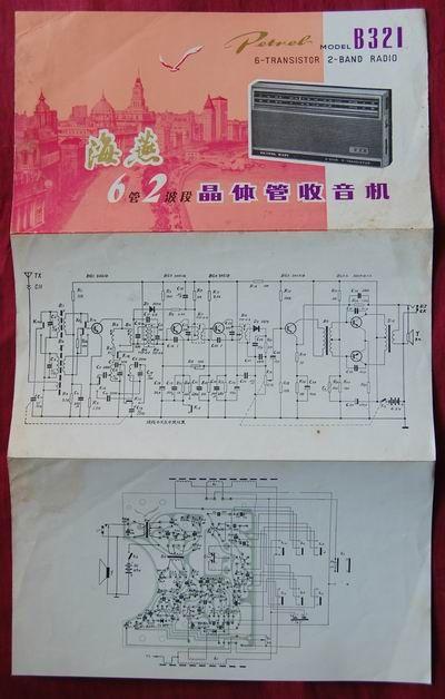 海燕牌b321六管二波段晶体管收音机说明书