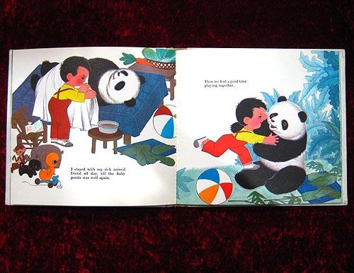 大熊猫来我家(英文)彩色